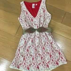Crochet Overlay Baby Doll Dress